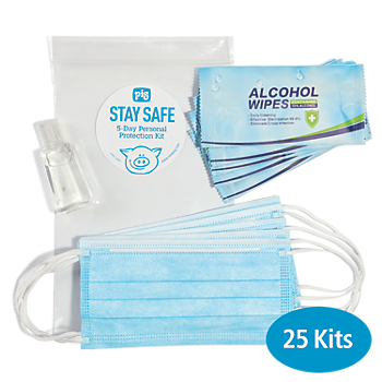PIG™ Stay Safe 5-Day Personal Protection Kit - 25 Kits