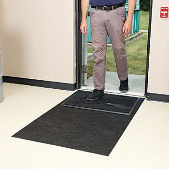 Shoe Disinfectant Mat with Adhesive-Backed Floor Mat