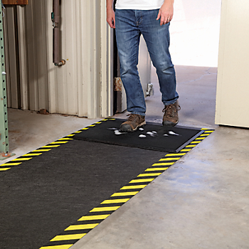 Shoe Disinfectant Mat with Adhesive-Backed High-Visibility Runner