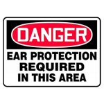 Danger Ear Protection Required In This Area Sign
