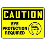Caution Eye Protection Required Icon Sign