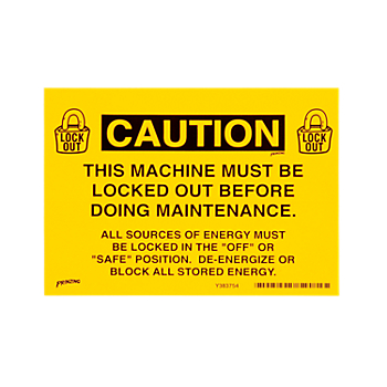 Lockout Sign - Caution