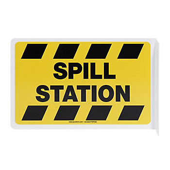 Spill Station 90° Projection Sign