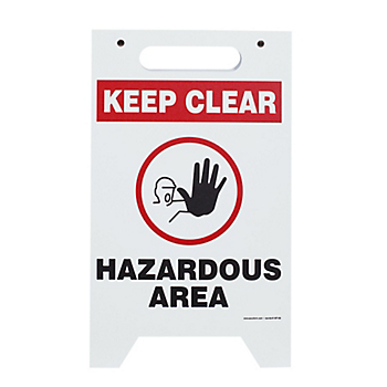 Two-Sided Keep Clear Hazardous Area Floor Sign