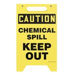 Two-Sided Caution Chemical Spill Keep Out Floor Sign