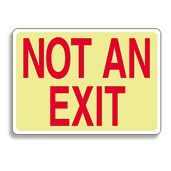 Glow-In-The-Dark Exit Sign