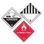 Hazardous Material Shipping Roll Labels