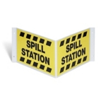 Spill Station 3D Projection Sign
