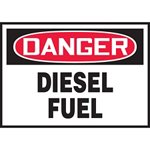 Danger Diesel Fuel Hazard Warning Label