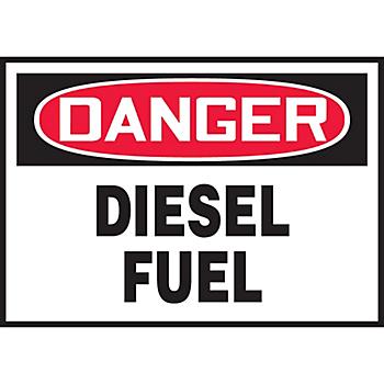 Danger Diesel Fuel Hazard Warning Label