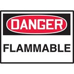 Danger Flammable Hazard Warning Label