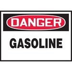 Danger Gasoline Hazard Warning Label