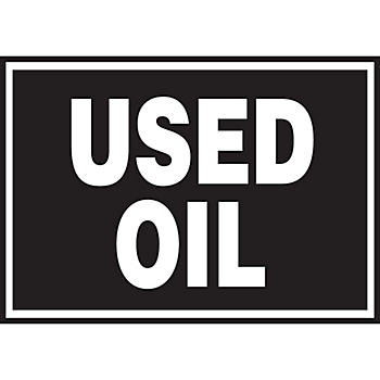 Used Oil Hazard Warning Label