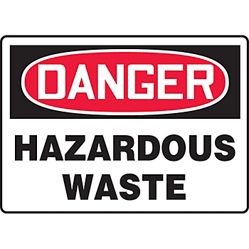 Danger Hazardous Waste Hazard Warning Label