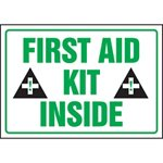First Aid Kit Inside Label