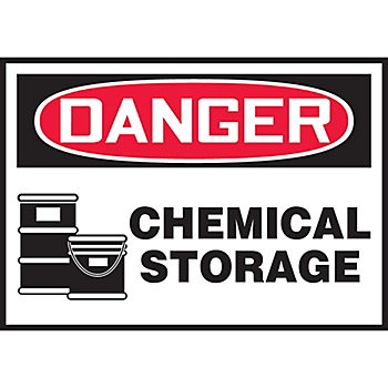Danger Chemical Storage Hazard Warning Label