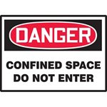 Danger Confined Space Do Not Enter Hazard Warning Label