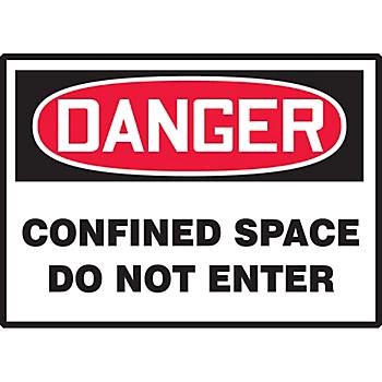 Danger Confined Space Do Not Enter Hazard Warning Label