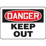 Danger Keep Out Hazard Warning Label
