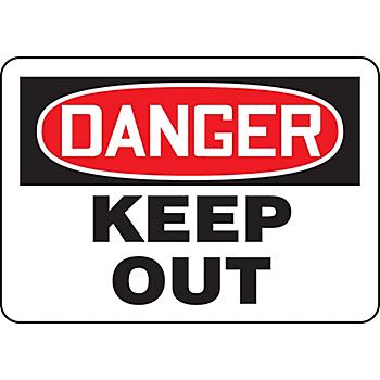 Danger Keep Out Hazard Warning Label
