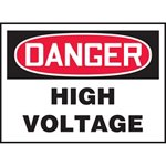 Danger High Voltage Hazard Warning Label