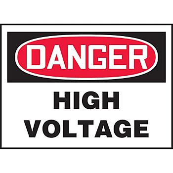 Danger High Voltage Hazard Warning Label
