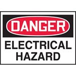 Danger Electrical Hazard Warning Label