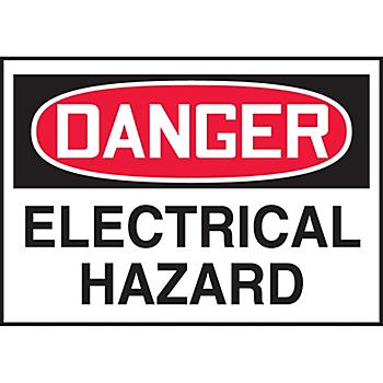 Danger Electrical Hazard Warning Label