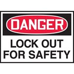 Danger Lockout For Safety Hazard Warning Label