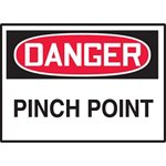 Danger Pinch Point Hazard Warning Label