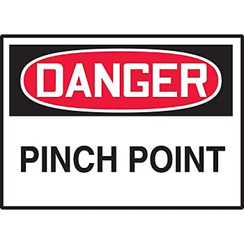 Danger Pinch Point Hazard Warning Label