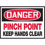 Danger Pinch Point Keep Hands Clear Hazard Warning Label