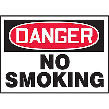Danger No Smoking Hazard Warning Label