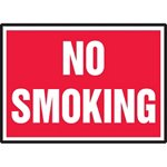 No Smoking Hazard Warning Label