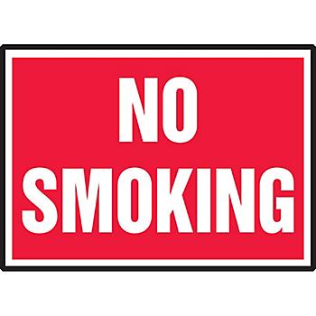 No Smoking Hazard Warning Label