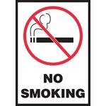 No Smoking Hazard Warning Label with Symbol