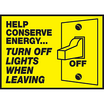 Help Conserve Energy Label