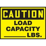Caution Load Capacity Hazard Warning Label