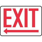 Exit Sign with Left Arrow