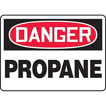 Danger Propane Sign