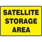 Satellite Storage Area Sign