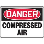 Danger Compressed Air Sign