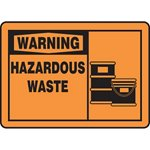 Warning Hazardous Waste Sign