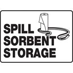 Spill Sorbent Storage Sign
