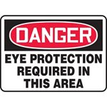 Danger Eye Protection Required In Area Sign