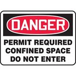 Danger Permit Required Confined Space Do Not Enter Sign
