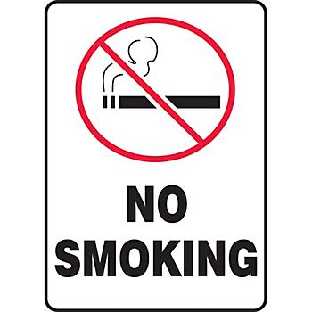 No Smoking Sign with Symbol