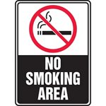 No Smoking Area Sign with Symbol