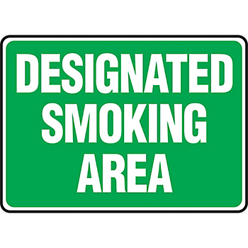 Designated Smoking Area Sign