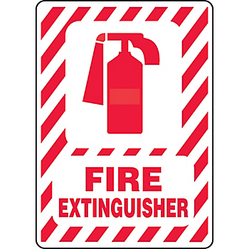 Fire Extinguisher Sign with Symbol